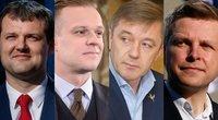Paluckas, Landsbergis, Karbauskis, Šimašius (tv3.lt fotomontažas)