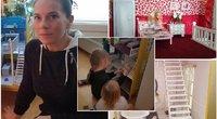 Auksarankė mama Kristina pati pagamino dukroms lėlių namelį (tv3.lt fotomontažas)