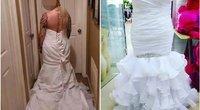 Vestuvinė suknelė papiktino nuotaką (nuotr. facebook.com)