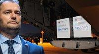 """""""Sputnik V"""" šokas: Slovakijoje dėl koronaviruso ir rusiškų skiepų subyrėjo valdžia (nuotr. SCANPIX) tv3.lt fotomontažas"""