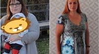 Beveik 50 kilogramų numetusi Laura (tv3.lt fotomontažas)