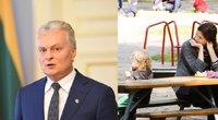 Seimui teikiamas prezidento siūlymas dėl išmokos šeimoms su vaikais (tv3.lt fotomontažas)