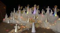 Nors šventės baigėsi, bet Angelų miestas Baisogaloje vis dar džiugina gyventojus (nuotr. stop kadras)