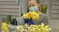 Motinos dienai gėlių pardavėjai tikisi lankytojų, bet nepadės nuostoliams padengti (nuotr. stop kadras)