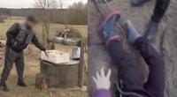 Lazdijų rajone vyrą su vaiku vadavo iš šulinio (nuotr. stop kadras)