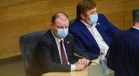 Saulius Skvernelis ir Ramūnas Karbauskis (nuotr. Fotodiena/Justino Auškelio)