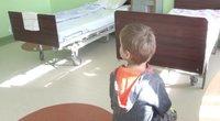 Vaikas ligoninėje (nuotr. stop kadras)