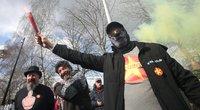 Protesto akcija Belgijoje (nuotr. SCANPIX)