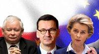"""Tarp Lenkijos ir ES skraido žiežirbos: ar galime tikėtis """"Polexito""""? (tv3.lt fotomontažas)"""
