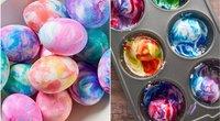 Kiaušiniai, marginti skutimosi putomis (nuotr. pinterest.com)