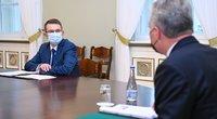 G. Nausėda susitiko su kandidatu sveikatos apsaugos ministrus A. Dulkiu (nuotr. Roberto Dačkaus)