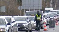 Policija kontroliuoja  – prie postų keliuose nusidriekė eilės (nuotr. stop kadras)