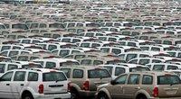 Automobiliai Baltimorės uoste Merilande (JAV) (nuotr. zerohedge.com)