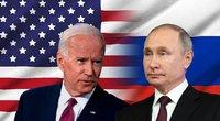 Joe Bidenas ir Vladimiras Putinas (tv3.lt fotomontažas)