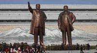 Šiaurės Korėja mini Saulės dieną – valstybės įkūrėjo gimtadienį (nuotr. SCANPIX)