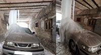 Apledėjęs automobilis Vilniuje (Andrej Černenko nuotrauka) (nuotr. skaitytojo)