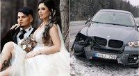 Justina Partikė pateko į avariją (tv3.lt fotomontažas)