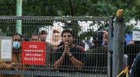 Migrantų protestas Rūdninkų poligone (nuotr. Broniaus Jablonsko)