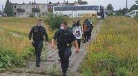 Nelegalūs migrantai Varėnos rajone (nuotr. TV3)