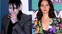 Marilyn Manson ir Lana Del Rey (nuotr. SCANPIX) tv3.lt fotomontažas