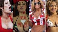 Pusnuogės Lotynų Amerikos merginos veda iš proto futbolo gerbėjus (tv3.lt fotomontažas)