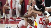 Ispanijos moterų krepšinio rinktinė į pusfinalį nepateko. (nuotr. SCANPIX)