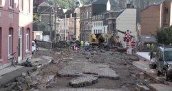 Europą plauna potvyniai: Londone skęsta metro stotys, Belgijoje nušluotas miestas