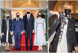 Nausėdos Macroną ir jo žmoną pakvietė iškilmingos vakarienės: pirmoji Prancūzijos ponia suspindo elegancija