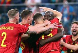 Lukaku dublis atvedė belgus į pirmąją pergalę Europos čempionate