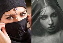 Abstulbsite išvydę, kokios moterys slepiasi po arabiškais hidžabais