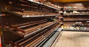 Tuščios parduotuvių lentynos (nuotr. Raimundo Maslausko)