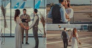Pirmosios vestuvės Vilniaus oro uoste