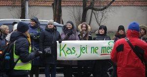 Protestas Vilniuje (Vilius JURGELEVIČIUS Fotodiena.lt nuotr.)