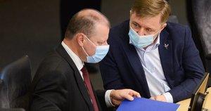 Saulius Skvernelis, Ramūnas Karbauskis (nuotr. Fotodiena/Justino Auškelio)