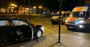 Policijos avarija Klaipėdoje / liudininko nuotr.