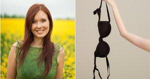Edita skatina moteris liepos mėnesį atsisakyti liemenėlės (tv3.lt fotomontažas)