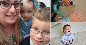 Norėdama apsaugoti savo vaikus mama nusprendė vadeles paimti į savo rankas – vaikai dabar prie jos prirakinti apyrankėmis (nuotr. facebook.com)