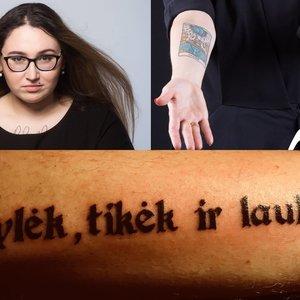 """Seimo nariai demonstruoja savo tatuiruotes: """"Ar užrašas ant kūno ištrina kompetenciją? Baikit, nemanau"""""""
