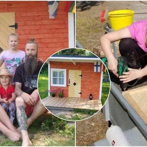 Lietuvės sukurtas namelis dukroms virto sensacija: užeiti trokšta ne tik vaikai