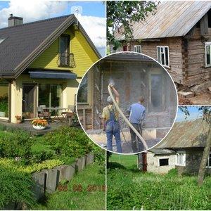 Prieniškiai savo rankomis seną trobą pavertė įspūdingu namu: remonto istorija – kaip iš filmo