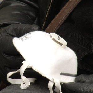 Vilniuje į šarvojimą žmonės renkasi ne tik su gėlėmis, bet ir respiratoriais