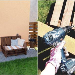 Statybines atliekas Erika pavertė puikia sofa: vaikams patiko labiausiai