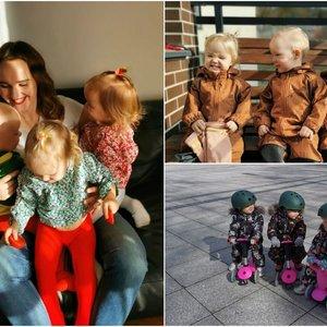 Vilniečių namuose net ir karantino metu Velykos – pilnos laimės: čia karaliauja trynukės sesės