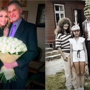 Išskirtiniai kadrai iš Orbakaitės 50-mečio: jautrus tėvo sveikinimas ir vaikystės akimirkos iš Lietuvos