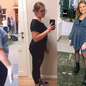Vilnietė pasiekė stulbinančių rezultatų ir atsikratė beveik 40 kg: tėvai nerimavo dėl merginos sveikatos