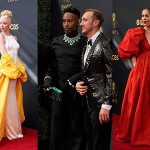 """Ant """"Emmy"""" apdovanojimų raudonojo kilimo – drasūs įvaizdžiai ir ryškios spalvos"""