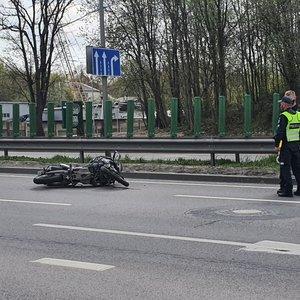 Vilniuje sunkiai sužeistas motociklininkas