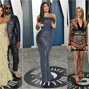 """""""Oskarų"""" vakarėlyje – dėmesys Kardashian klanui: viena narė vos galėjo pajudėti"""
