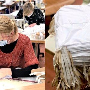 Širdį tirpdantis gerumas: darbuotojai per laisvadienį medikams siuva 10 tūkst. kaukių