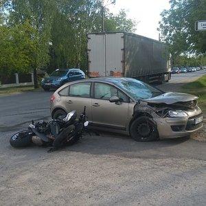 Avarijoje Kaune žuvo jaunas motociklininkas